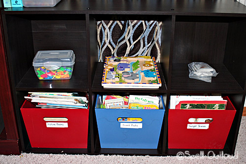 A Work in Progress: Homeschool Room Organization