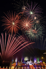2010 Bitan Firework Festival  (olvwu | ) Tags: light reflection water fountain festival night festive bride colorful fireworks explosion taiwan celebration taipei suspensionbridge  explode firecracker  bitan   taipeicounty sindian  jungpangwu oliverwu oliverjpwu  waterdance   olvwu sindianriver waterdancing sindiancity jungpang bitansummerfestival  2010bitanfireworkfestival bitanfireworkfestival