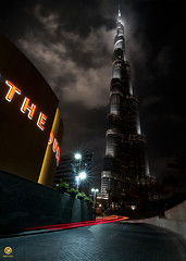 Night-Shot ---- Burj Khalifa (long exp) (Dhowayan (Abu Yara)) Tags: longexposure dubai nighshot dubaimall  tokina1116   burjkhailfa