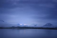 Blue | Eyjafjrur, Iceland (v on life) Tags: blue mountain snow reflection water iceland dusk eyjafjrur ringroad