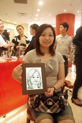 Portrait live sketching for Marella boutique - 6