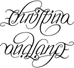 """Christina and Lance"" Ambigram"
