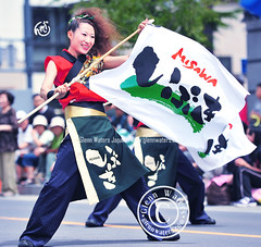 Yosakoi Street Dance in Japan (Glenn Waters in Japan.) Tags: street carnival summer beautiful festival japan lady japanese dance nikon action bokeh aomori  hirosaki matsuri  japon yosakoi        d700 nikond700  glennwaters photosjapan afsnikkor70200mmf28gedvrii