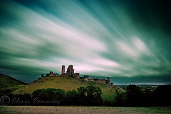 Corfe in colour. (Chrisconphoto) Tags: longexposure clouds movement filter dorset corfecastle weldingglass