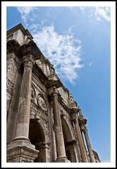 Arch of Constantine (Paul J White) Tags: rome ancient arch stonework forum columns constantine pillars palatine circusmaximus viatriumphalis