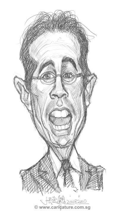digital caricature of Jerry Seinfeld - 1 small