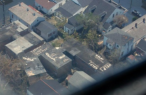 Treme neighborhood during Katrina (by: Jocelyn Augustino, FEMA)
