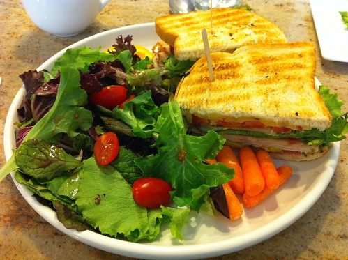 Turkey Club w/Salad, Café Kaila