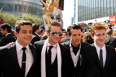 "Rami Malek, Ashton Holmes, John Seda, and Joseph Mazzello from HBO's ""The Pacific"" at the 2010 Emmys (djtomdog) Tags: television losangeles tv hbo thepacific emmys nokialive tvjunkie ashtonholmes ramimalek josephmazzello johnseda thomasattilalewis thetvjunkie primetimeemmy"