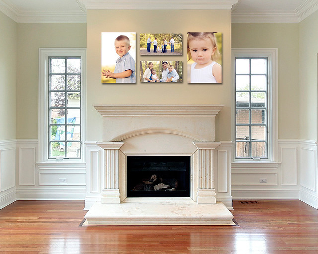 fireplace  4 canvas