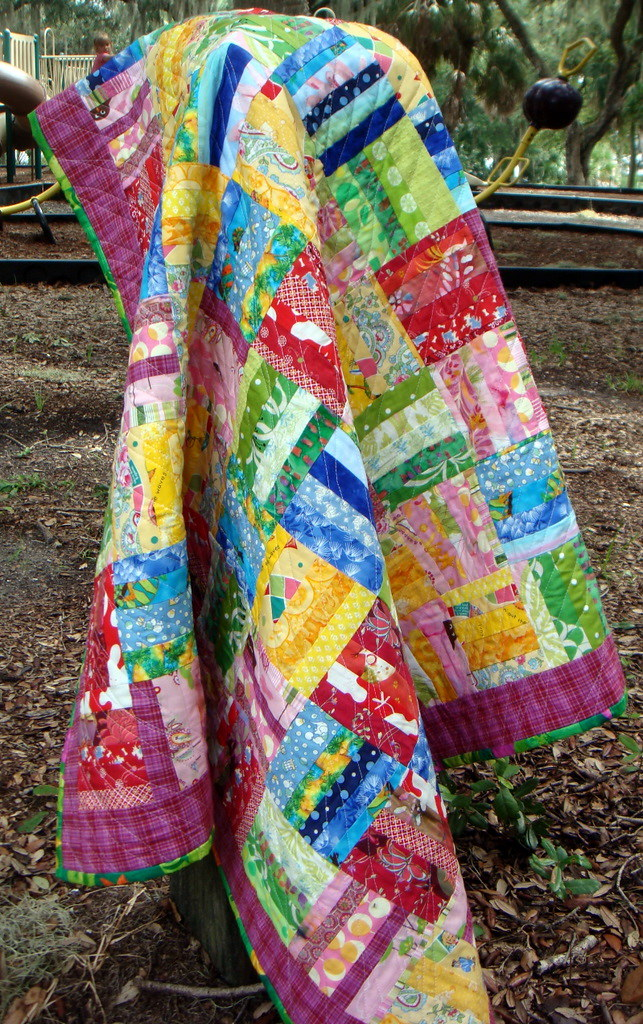 Rainbow of Color Scrap Quilt