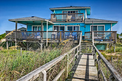 A Clear View (Brons Photography) Tags: wood blue sky house architecture nc nikon dunes north bluesky deck carolina outerbanks emeraldisle hdr highdynamicrange sanddunes beachhouse d90 hdrphotography nikond90 highdynamicrangephotography aclearview