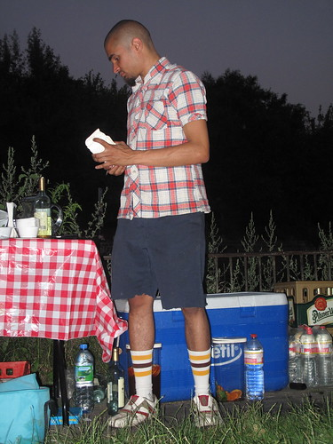 stylish service at the BBQ