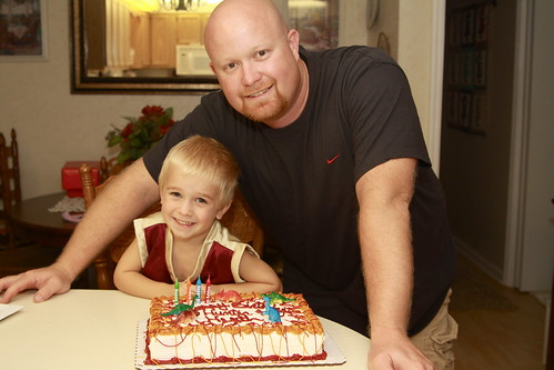 Hunter's 4th birthday and Daddy's 34th birthday