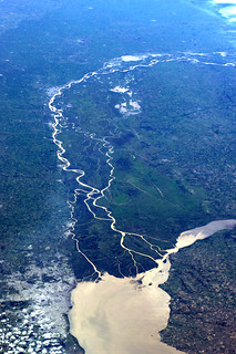 View in South America. Which river, capital city, nation?