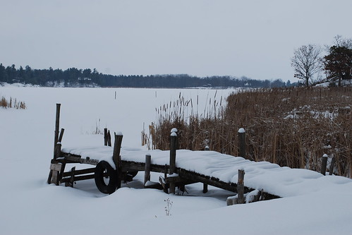 Dock in winter