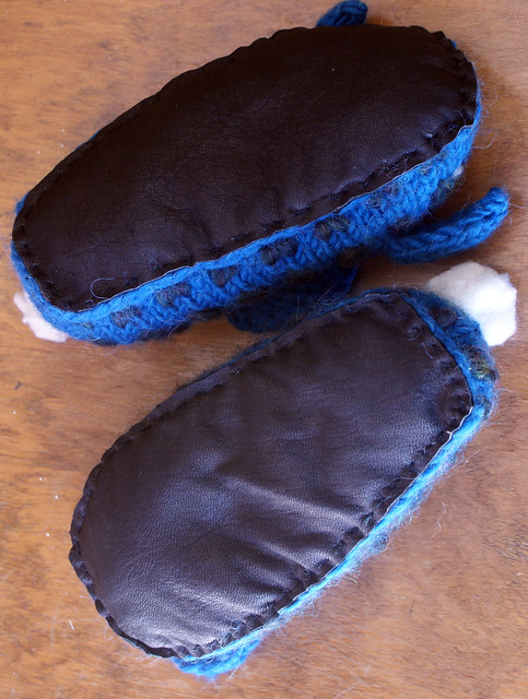 Leather slipper bottoms