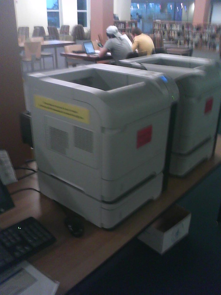 Printers in the library