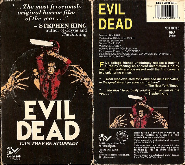 Evil Dead (cover 3) (VHS Box Art)