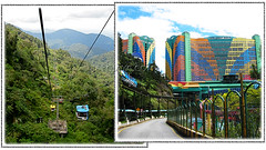 Skyway cable cars and First World Hotel, Genting Highlands