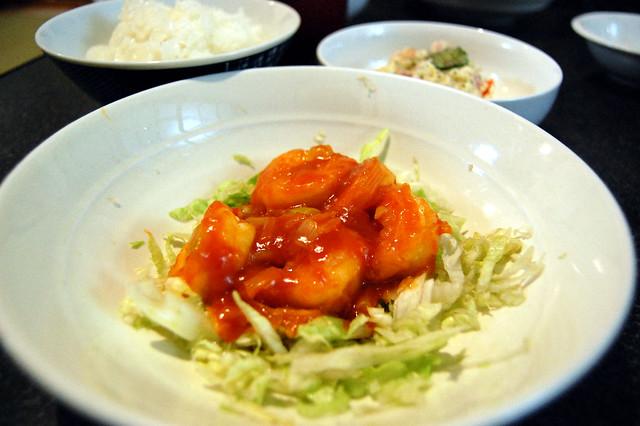 味がビシッと決まらなかったエビチリ。ご飯は進みました、が要研究。 #jisui