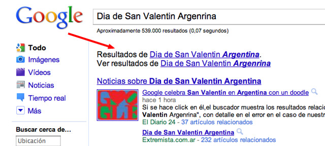 Google's Valentine's Day Bug