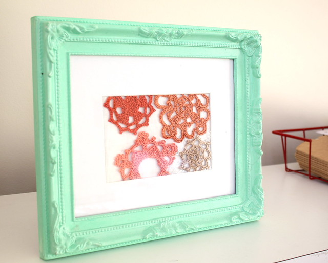 framed crochet motifs