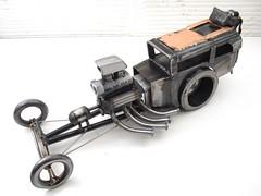 Scrap metal dragster