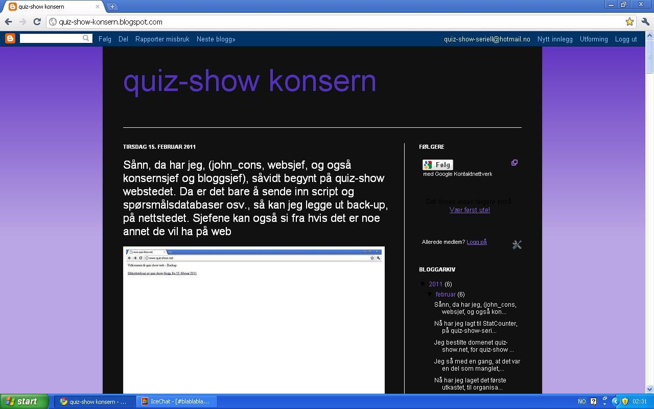 bloggpost quiz show webstedet