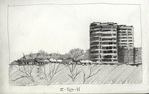 city skyline drawing. Sketch - City Skyline