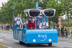 Krys-Sonnenbrillen bei der Tour-Werbekarawane