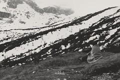 Woman in the mountains (nikkdc) Tags: woman mountains blakandwhite dolomites canon eos