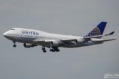 United Airlines --- Boeing 747-400 --- N128UA (Drinu C) Tags: adrianciliaphotography sony dsc rx10iii rx10 mk3 fra eddf plane aircraft aviation unitedairlines boeing 747400 n128ua 747