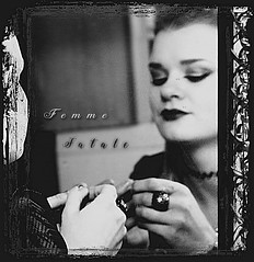 Who'se there? (Dominika Rucińska) Tags: filmnoir monochrome blackandwhite bw monochromeportraits portrait womanportrait woman mirror reflections blurred