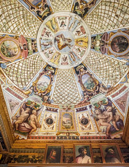 Uffizi Gallery (ClaudiaRomanelli) Tags: artistic background ceiling florence gallery italy pastel uffizi corridor visitors paints luxury interior artworks indoor museum
