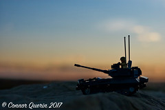 """To serve and protect..."" (Connor Querin) Tags: lego cvrt british rac brickmania track links afv armoured vehicle armour armor 135 outdoors calgary skyline evening colour sky contrast recce scimitar light tank qrh"