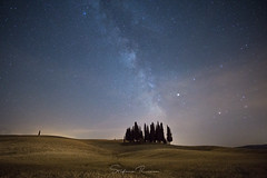 Milkyway on San Quirico d'Orcia cypresses. (StefanoRicca89) Tags: sky landscape night milkyway exploration outdoor space stars stelle vialattea notte cipressi cypresses san quirico dorcia