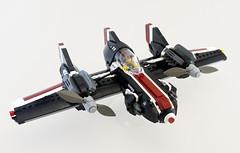 F-09 Trident - right (Sylon-tw) Tags: sylontw sylon plane aircraft airplane dieselpunk dieselpulp moc lego skyfi wing wings trident