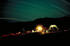 Dark Desert Night (savethegulf) Tags: longexposure camping sky nature night desert wilderness startrail