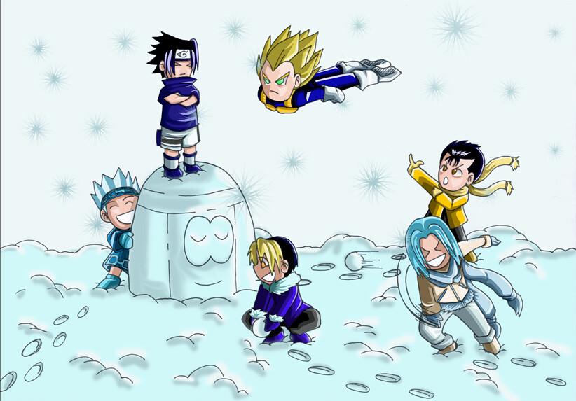 JUMP in the snow by Ecchi King (meisterkingremo) Tags  anime manga brook  onepiece naruto hentai nami sanji nicorobin lysop 04a85089ea0f