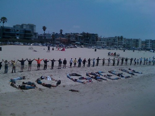 Hands Across The Sand, Venice Pier, Venice, CA