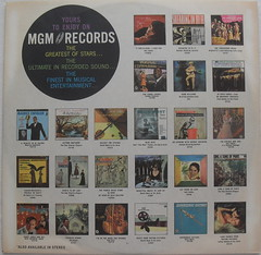 1960s MGM Records Interior Sleeve Thumbnails Vintage Graphics (Christian Montone) Tags: music records vintage graphics vinyl lp record 1960s mgm lps vintagevinyl vintagerecords