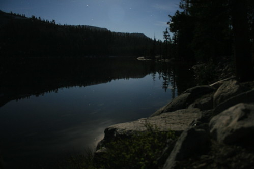 Tenaya Lake Under Moonlight