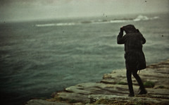 Finally we are noone #2 (Xiangk) Tags: ocean sea cliff storm girl rain dark rocks sydney figure lonely coogee