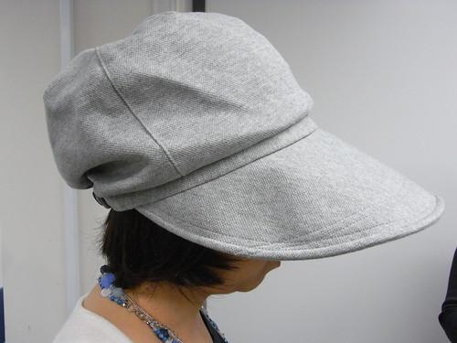 1日中かぶれる小顔帽子