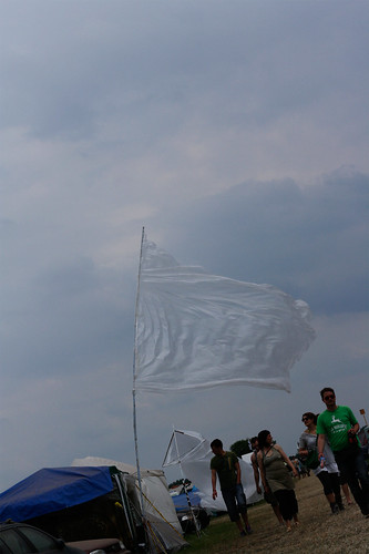 Zelt Fahne