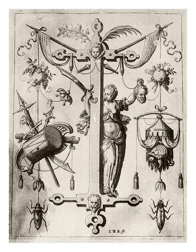 010-Letra J-Judit-Neiw Kunstliches Alphabet 1595- Johann Theodor de Bry