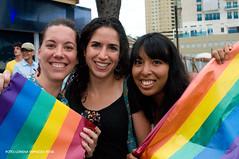 Trio de chicas lesbianas