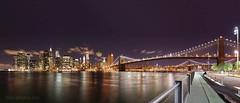 Panorama of Manhattan (Mia :)) Tags: nyc longexposure panorama skyline night canon walk manhattan sidewalk brooklynbridge stiched nightshooting 1635mm