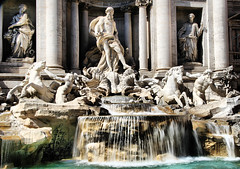 Trevi Fountain (` Toshio ') Tags: longexposure horses italy sculpture horse woman man motion rome roma building art history water fountain statue architecture pilar movement coin italian europe italia european roman icon trevi trevifountain historical baroque legend neptune europeanunion fontanaditrevi toshio baroquefountain